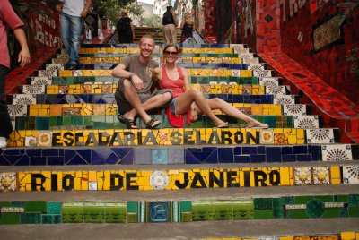 Us on the lapa steps