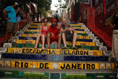 On the Lapa steps with Jorge the designer