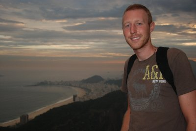 Ross overlooking copacabana beach