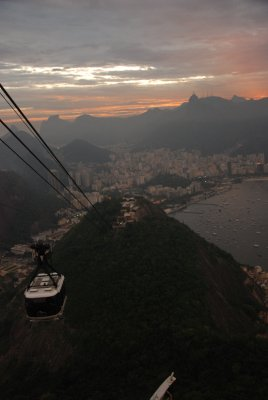 The cable car overlooking the city