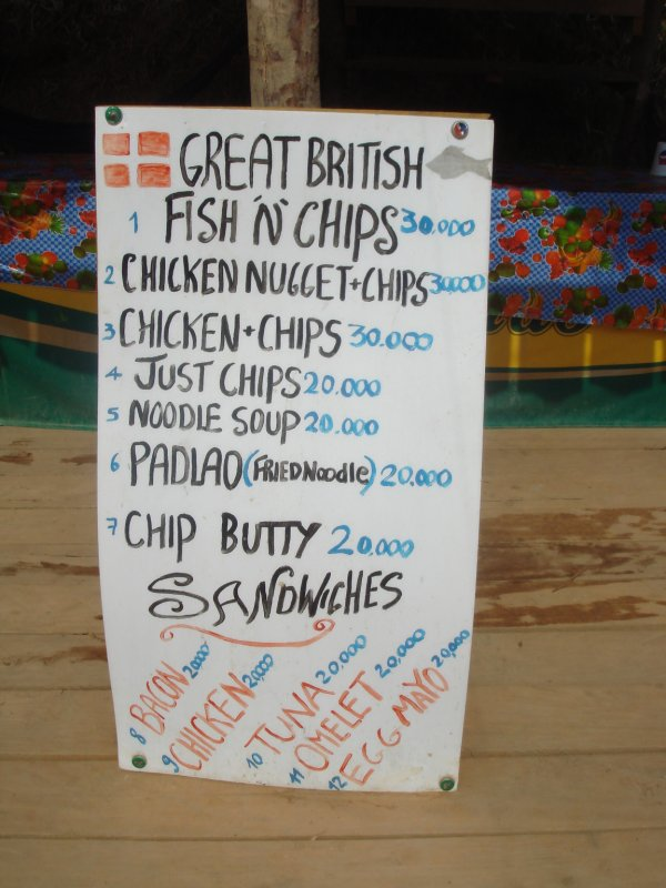 fish n chips sign