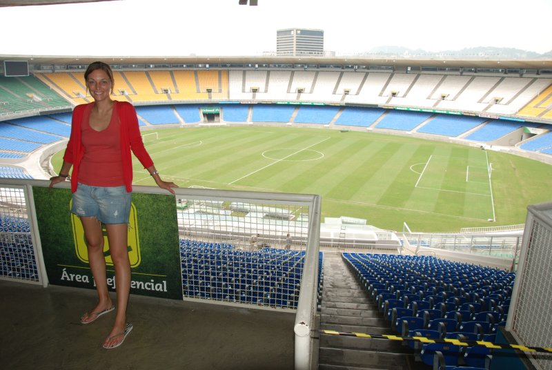 Lori overlooking the Maracana