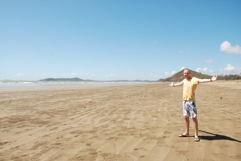Ross on the beach yeppoon