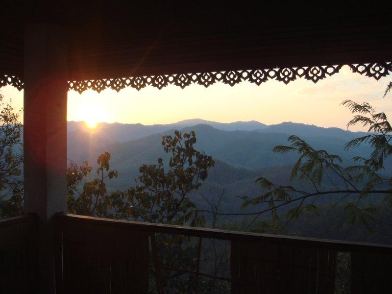 Sunset temple