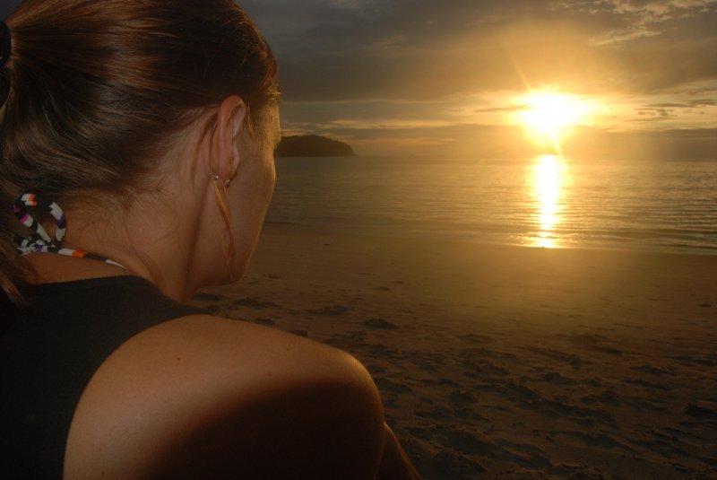 lori watching sunset