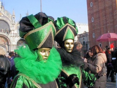 Two Green Masks