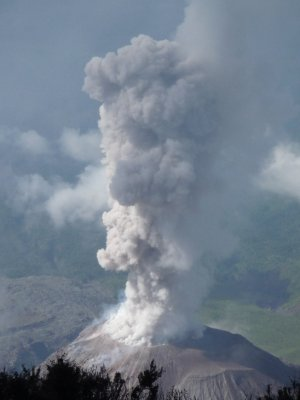 Santaguito erupting