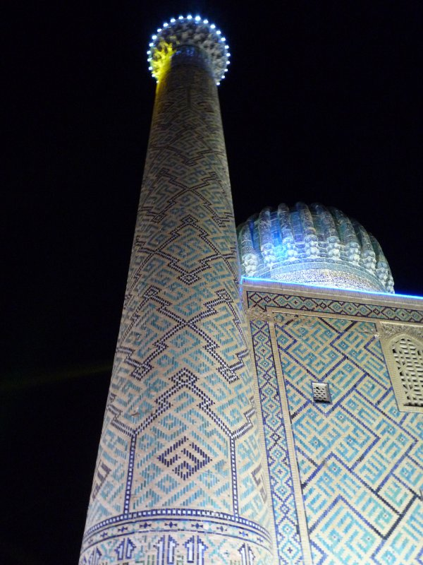 Registan, Samarkhand at night