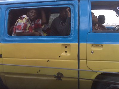 Official transport in Kinshasa