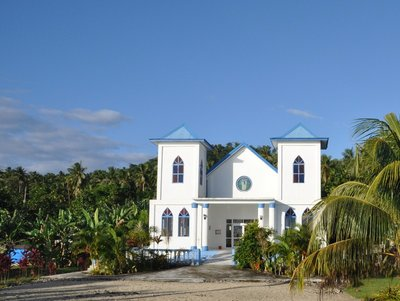 church on Manono island, Samoa