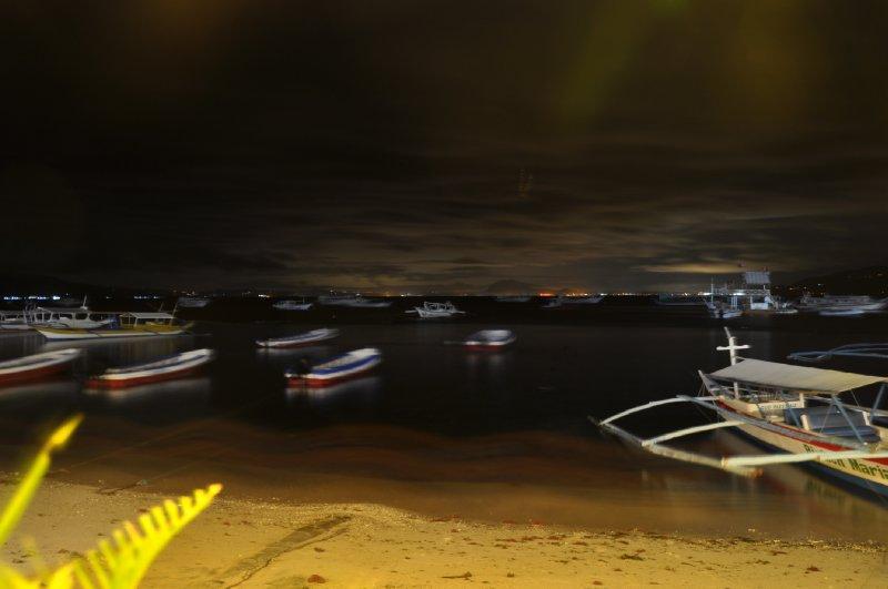 Nacht strand Filipinen