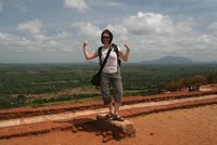 The final step at the top of Sigiriya Rock