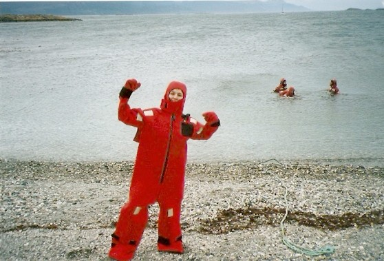 Swimming in Beagle Channel - Ushuaia