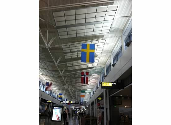 Dulles Airport - Flags