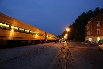 Amtrak Station in Jefferson City - evening