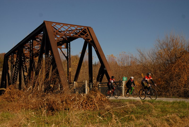 Bikers on the Katy Trail