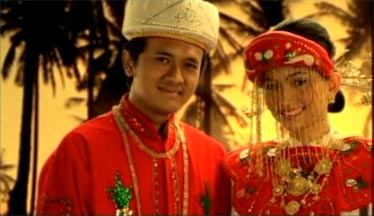 A Betawi's young couple near by Jakarta