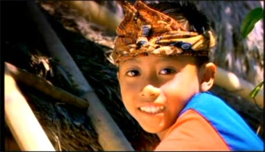 A happy smiling Sumba kid 