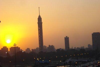 Sonnenuntergang ueber Kairo