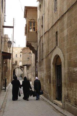 eine der engen Gassen in Aleppo - ideal um sich zu verirren...