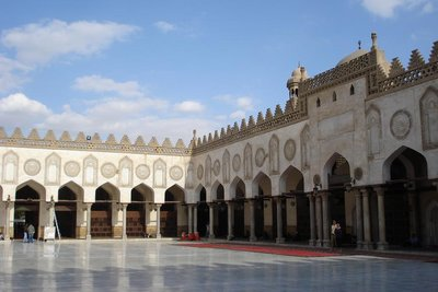 im Innern der Al-Azhar Moschee