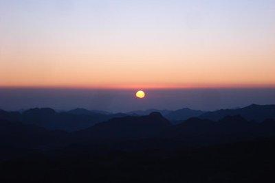 praechtiger Sonnenaufgang vom Mt. Sinai