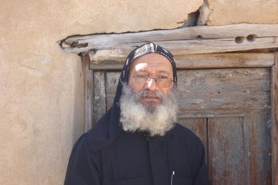unser Guide ein koptischer Moench
