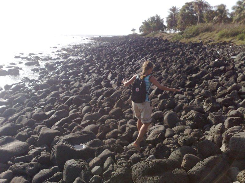 Beach walking 2