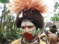 Huli Man with Bird Of Paradise Head Dress