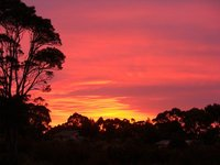Solnedgang fra terassen