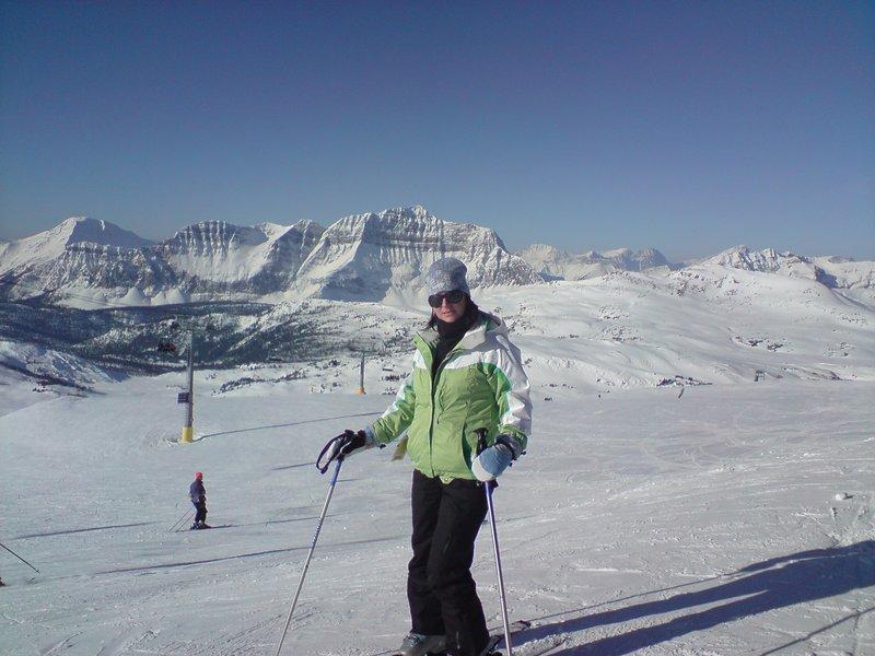 Skiing in Banff, Canada