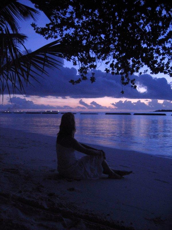 Enjoying paradise