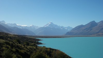 Mount Cook from Mackenzie Country