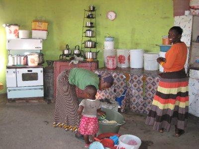 Kalula's kitchen.