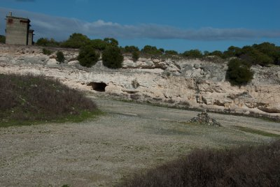 The limestone quarry where the prisoners did hard labor was also where most of the political debates and discussions occurred among prisoners. The limestone was so bright and the dust was so thick that most prisoners have eye and lung damage from being in this environment.