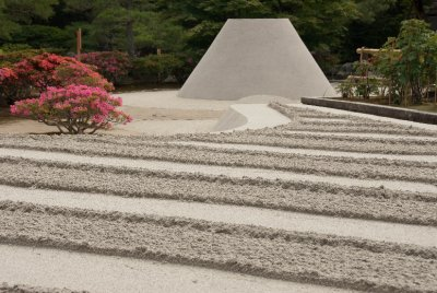 The zen sand garden at the Ginkakuji Temple.