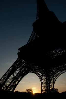 Sunrise at the Eiffel Tower, Paris, France.