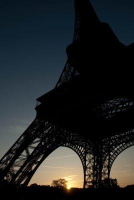 Sunrise at the Eiffel Tower, Paris, France.