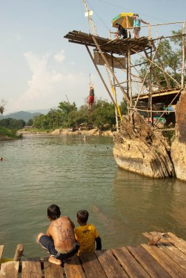 Vang Vieng swinging into Mekong