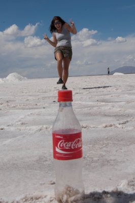 Coke is it! The biggest thing around. Salinas Grandes, Argentina.