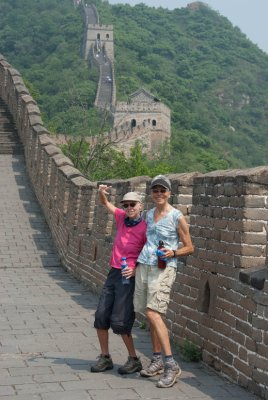 Pat and Ellen take on the Great Wall.