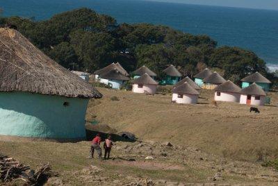 The rondavels of Bulungula Lodge.