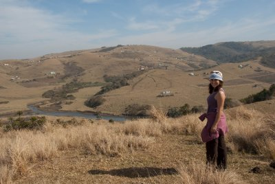 Taking a stroll through the rolling hills of Ngileni, South Africa.