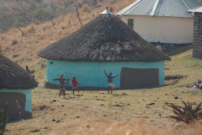 During a hike we communicated with some local children on a hill across from us using a common language - dance!