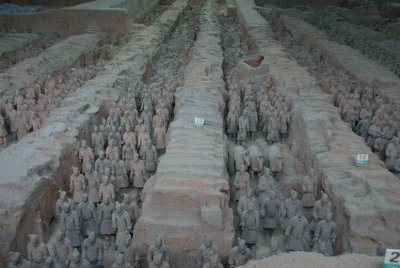This is one of three massive buildings filled with Terracotta Warriors that have been unveiled and pieced together.