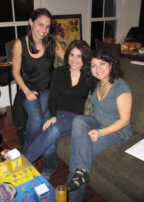 New Year&#39;s Eve 2011 with Sara and Diana. Adam and Dave stayed behind the scenes.
