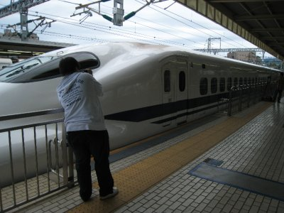 Even the locals are amused by the bullet trains.