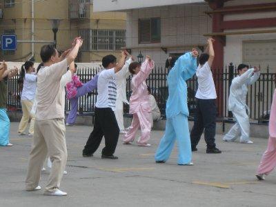 Morning Ti Chi in Xi'an.