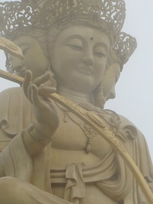 Buddha at top of Mt. Emei.