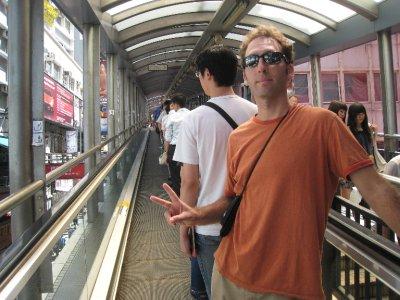 Hong Kong Island has the world's longest escalator.